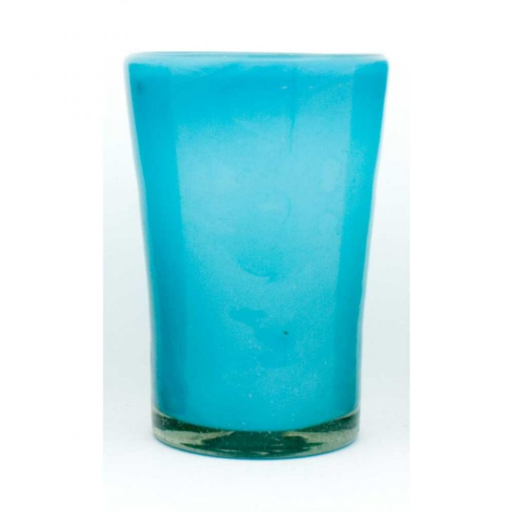 Milky turquoise flared
