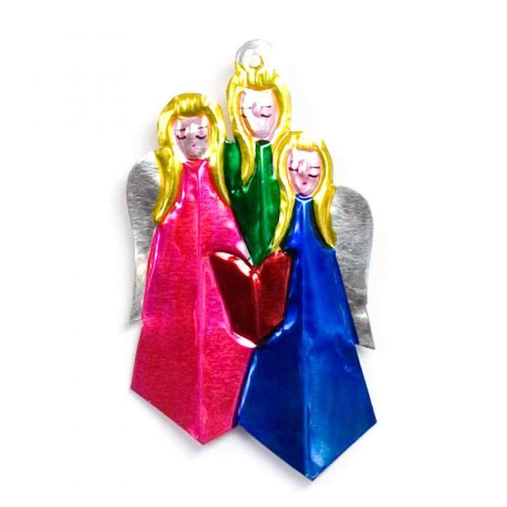tin angels decorations
