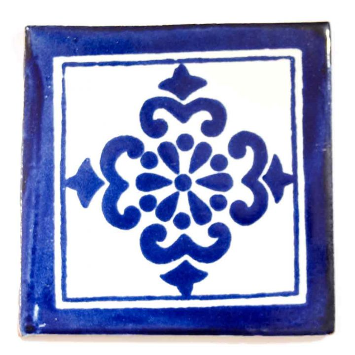 Anita blue hand made decorative mexican tiles.