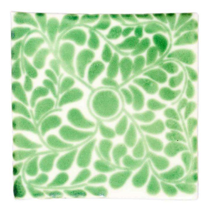 capelo green hand made tiles.