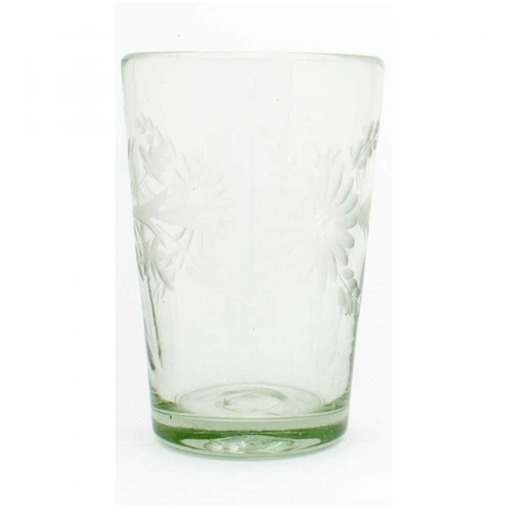 clear flared engraved tumbler