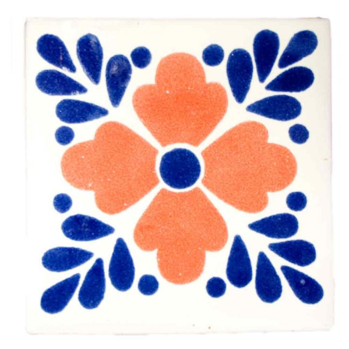 lester blue and terracotta hand made tiles.