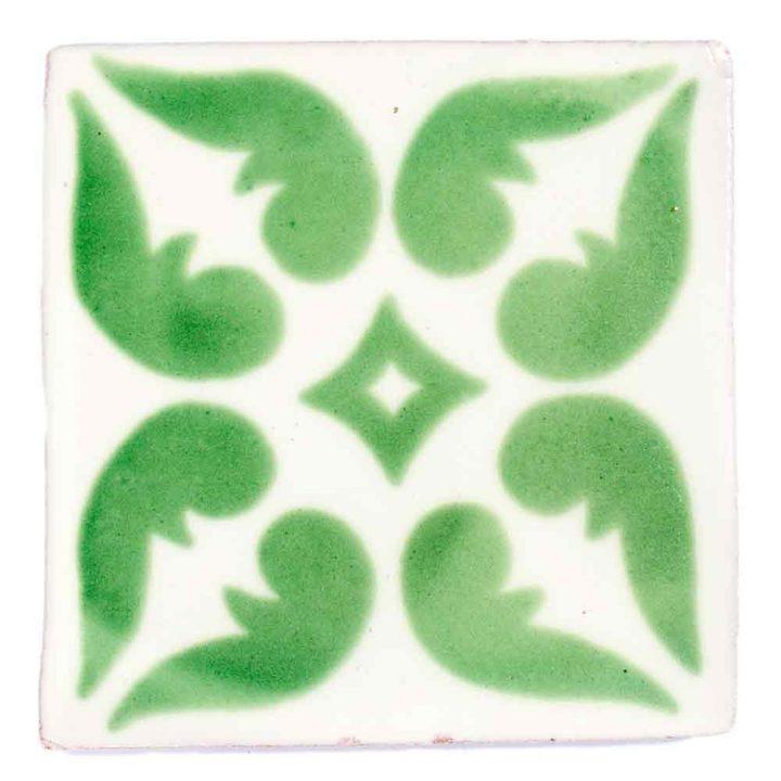 lyon green hand made mexican tiles