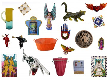 Mexican Tin Decorations.