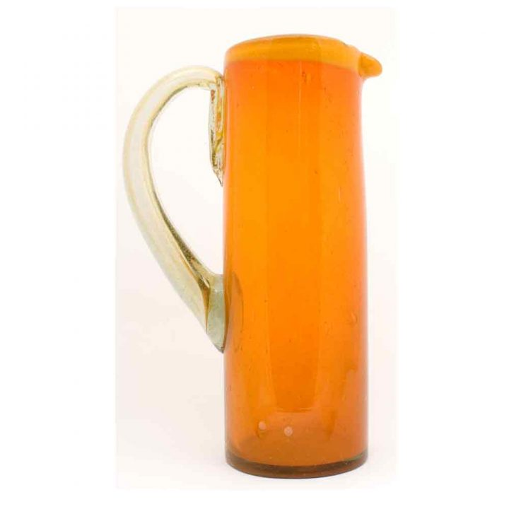 orange and yellow straight jug