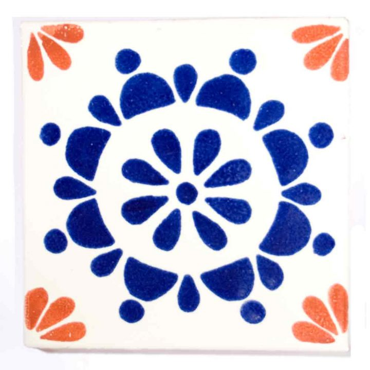 rocio blue and terracotta hand made tiles.