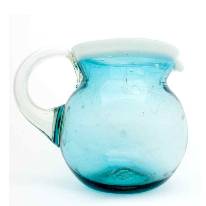 turquoise with a white rim jug.