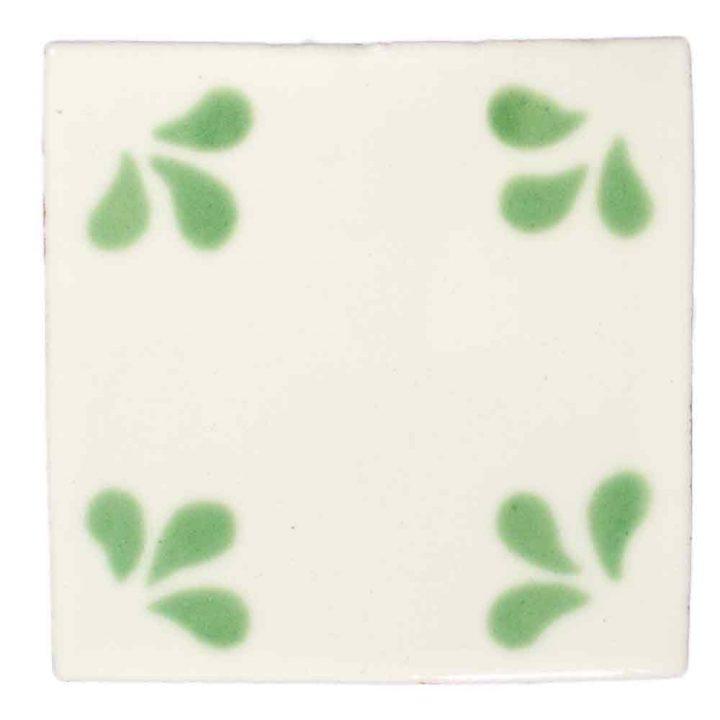 ville green hand made tiles.