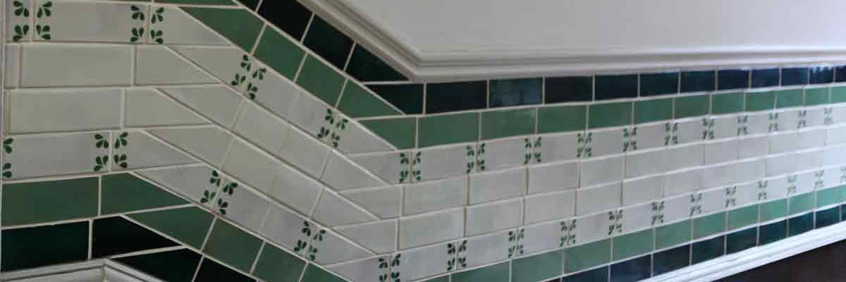Brick-metro tiles in chiswick.