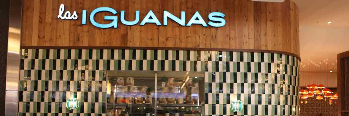 Las Iguanas hand made brick shaped tiles.