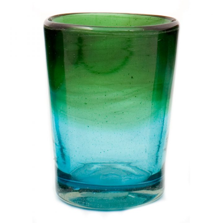 turquoise and green tumbler