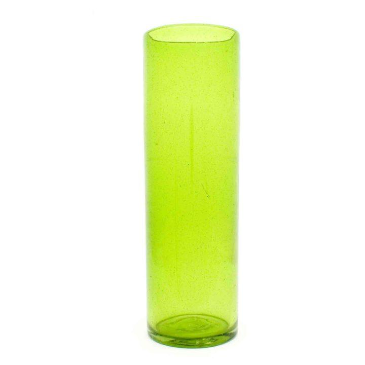 lime green flard vase 12 x 35cm