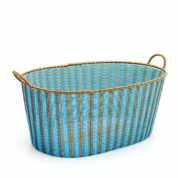 sky blue and gold ironing baskets