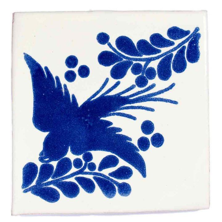 paloma blue hand made wall tiles.
