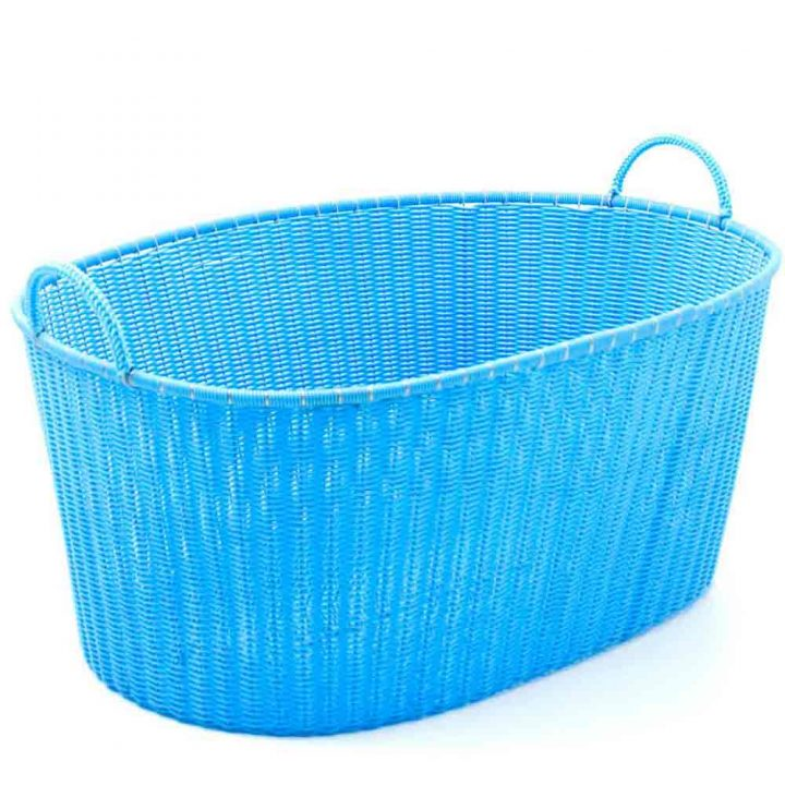 sky blue ironing basket