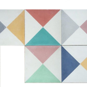 Dandy star encaustic floor tiles made in Mexico by Milagros