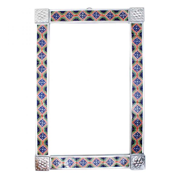 large tile mirror.