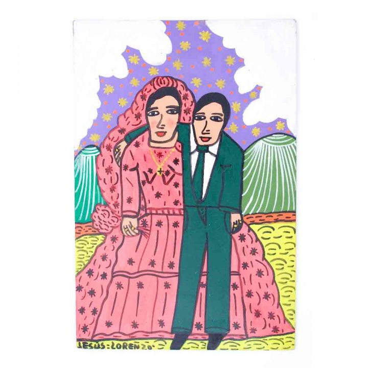 Bride and bridegroom saint paintings
