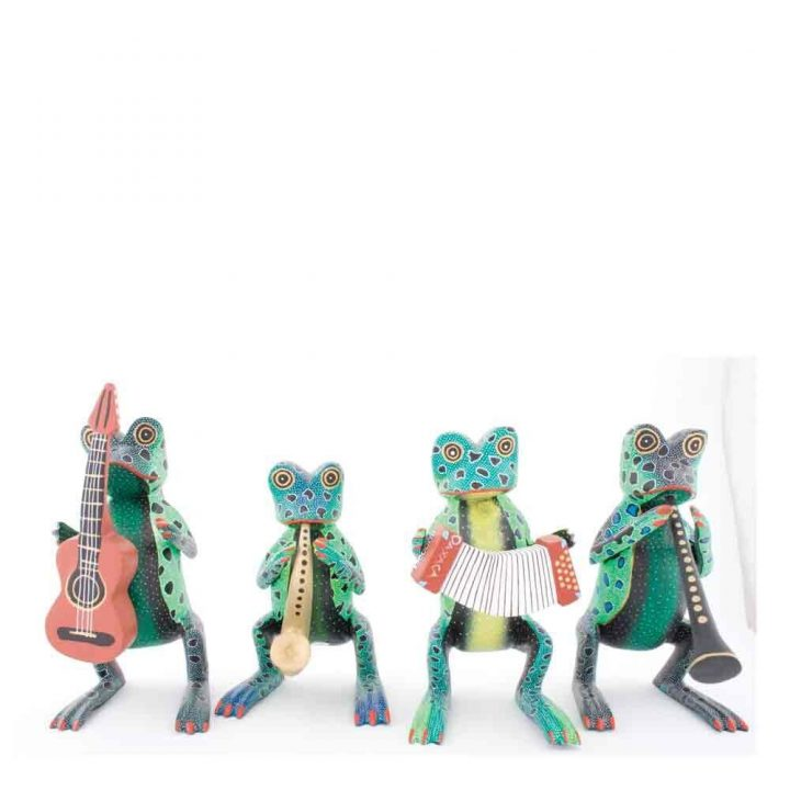 Wooden Musicians Frogs
